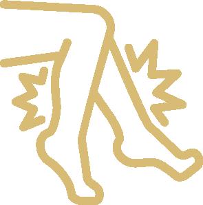 Leg pain icon.