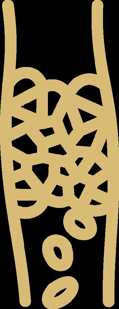 Deep venous thrombosis icon.