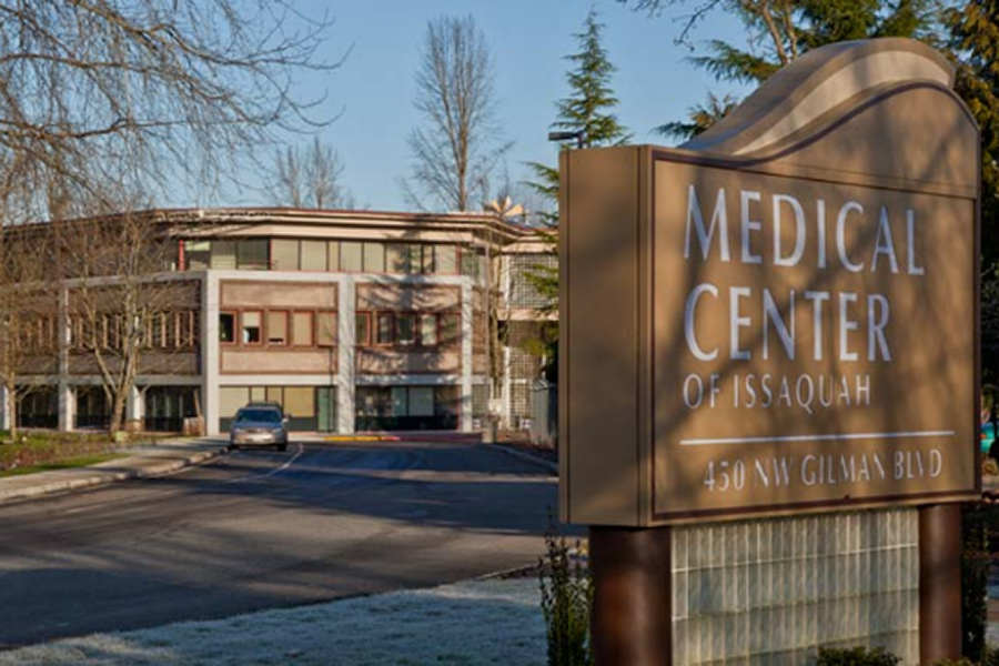 Medical Center of Issaquah sign and building.
